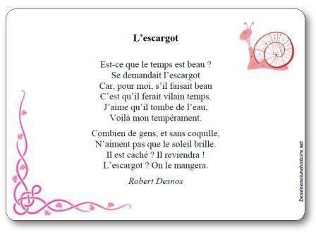 poesie j ai rencontre 3 escargots